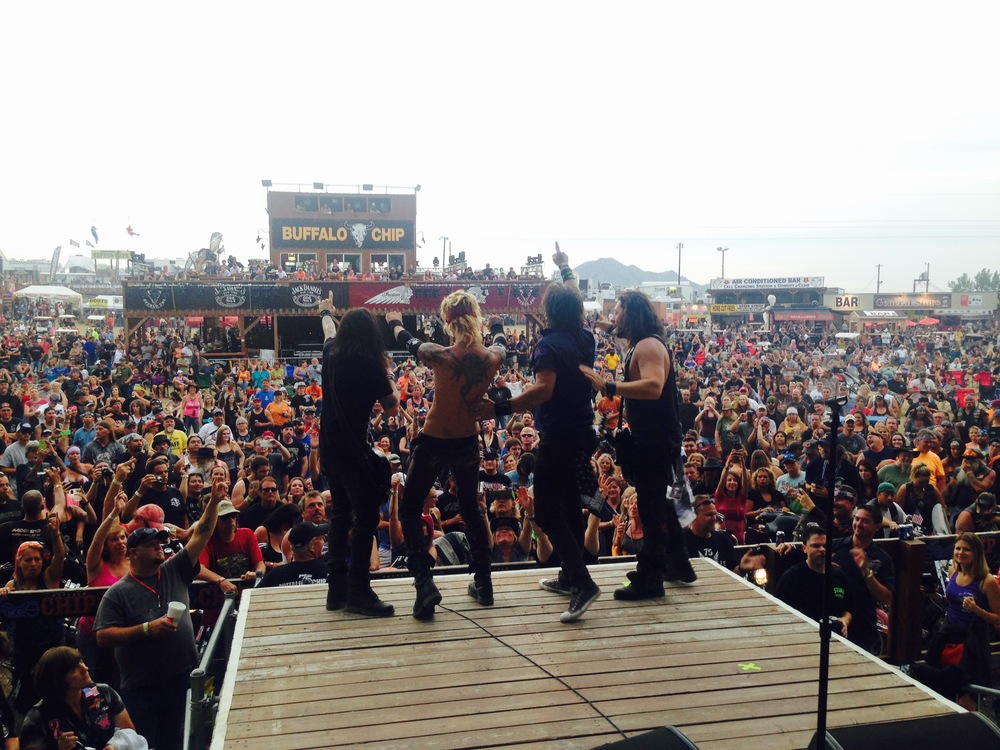 Photo By The Wanna     Sweet Cyanide @ Sturgis Buffalo Chip 2015
