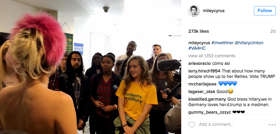 @mileycyrus, Instagram
