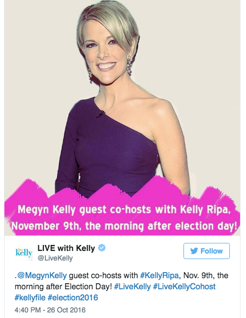 Twitter, @LiveKelly
