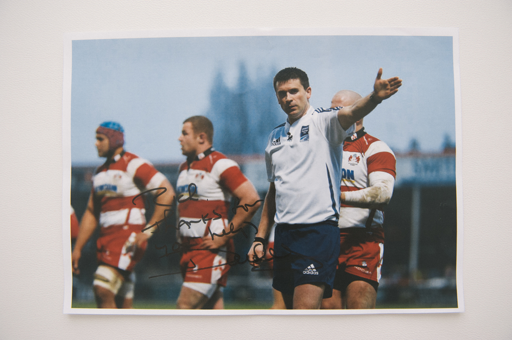 International Rugby Referee, Dudley Phillips, 'Rich, thanks for your help, Dudley'
