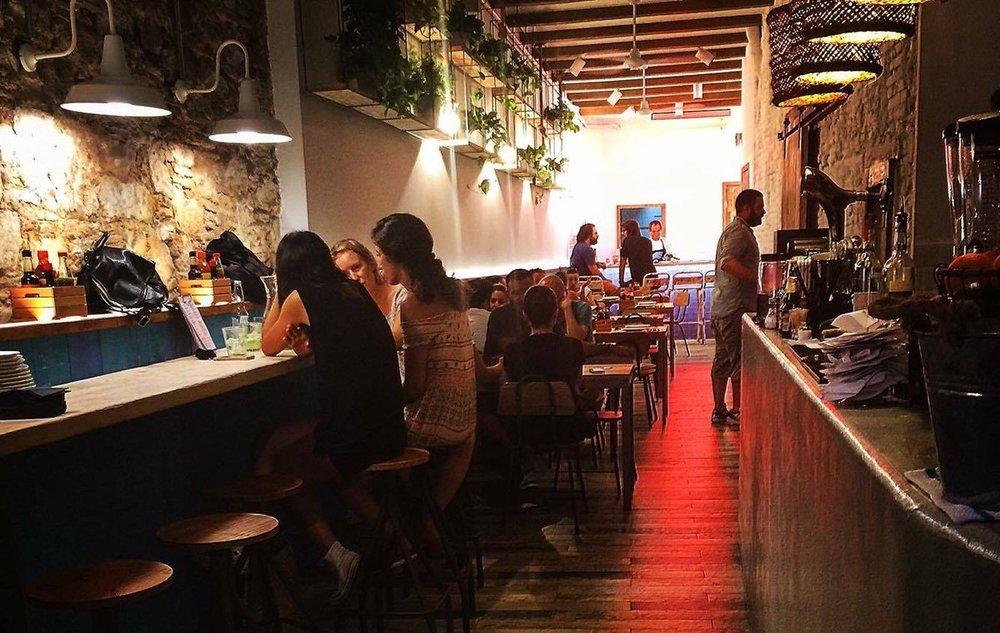 "1p.m. : Costa Pacifico ""Best fish tacos in town.""  Plaça de Sant Agustí Vell, 13; M: Arc de Triomf"