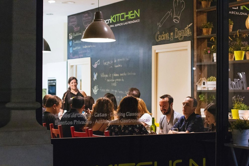 "5p.m. :  BCN Kitchen  ""What a treat this place is--cooking and eating Catalunya's finest."" c/de la Fusina, 15;   M: Arc de Triomf"