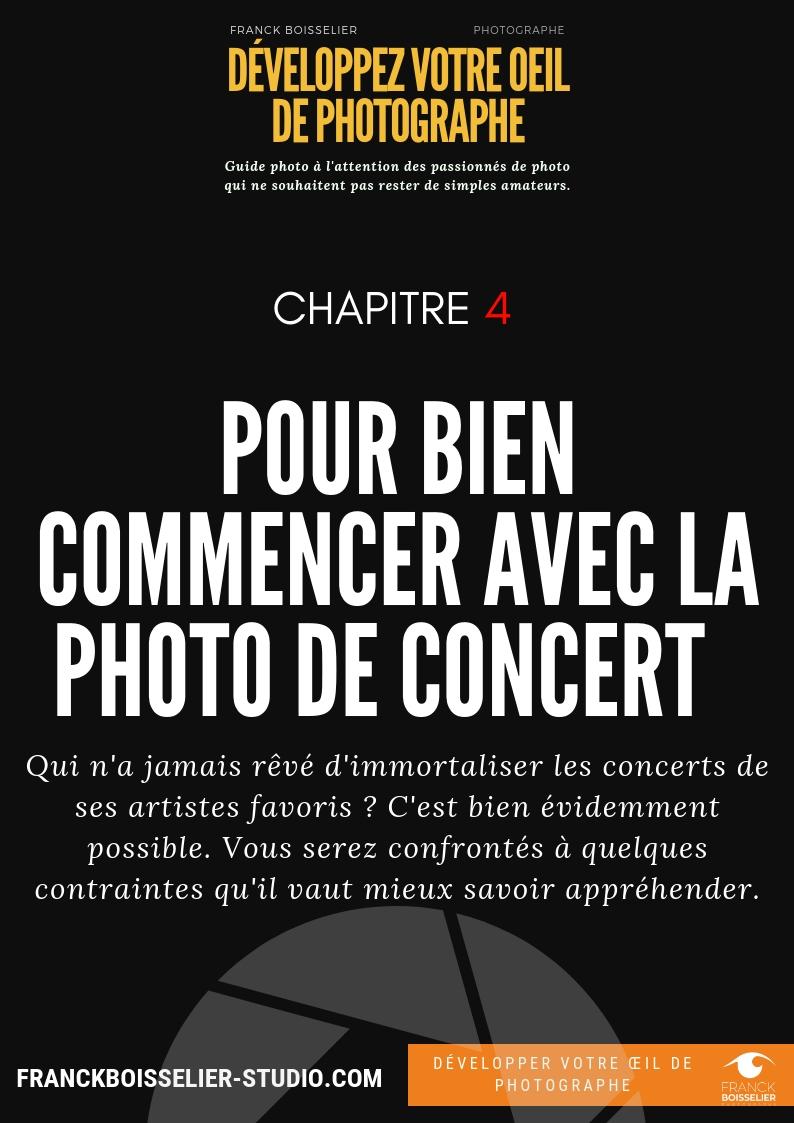 Réussir ses photos de concert - La photo de concert est un exercice particulier qui ne nécessite pas forcément de matériel cher. Vous pouvez réaliser de très bons clichés avec un reflex d'entrée de gamme et un objectif 50 mm f/1.8.