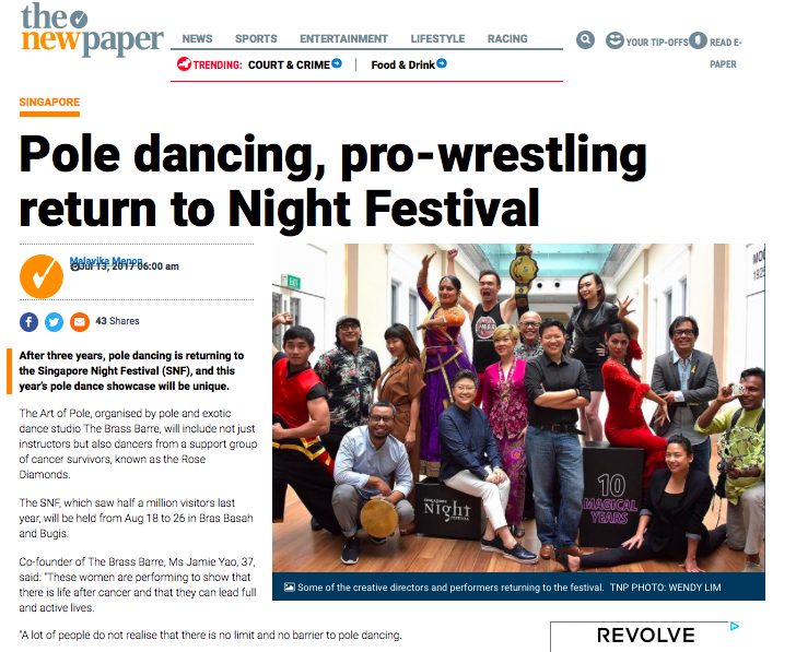 PR - SNF 2017 - Pole dancing, pro-wrestling return to Night Festival, Latest Singapore News - The New Paper - screengrab 01.png