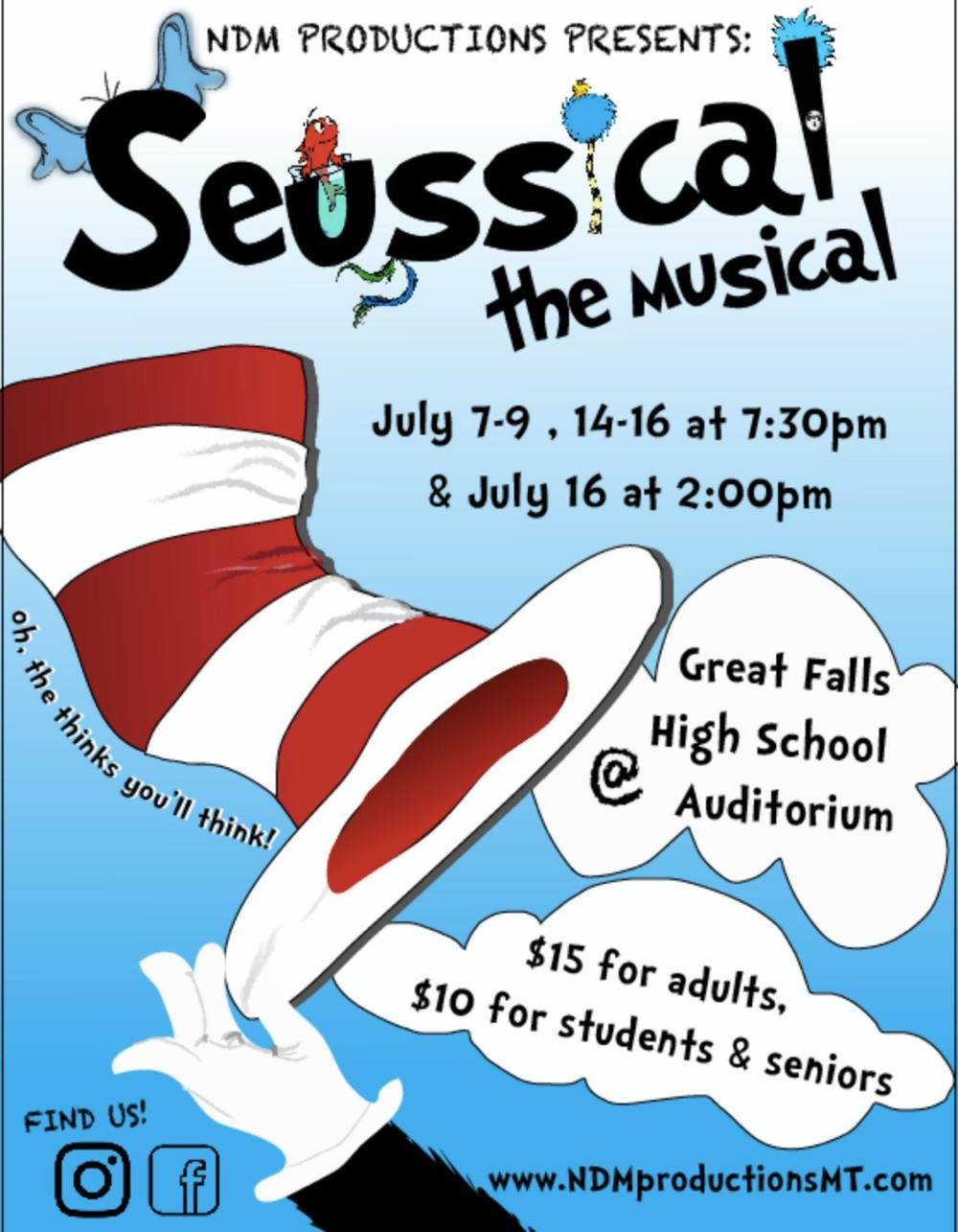 Seussical the musical show poster