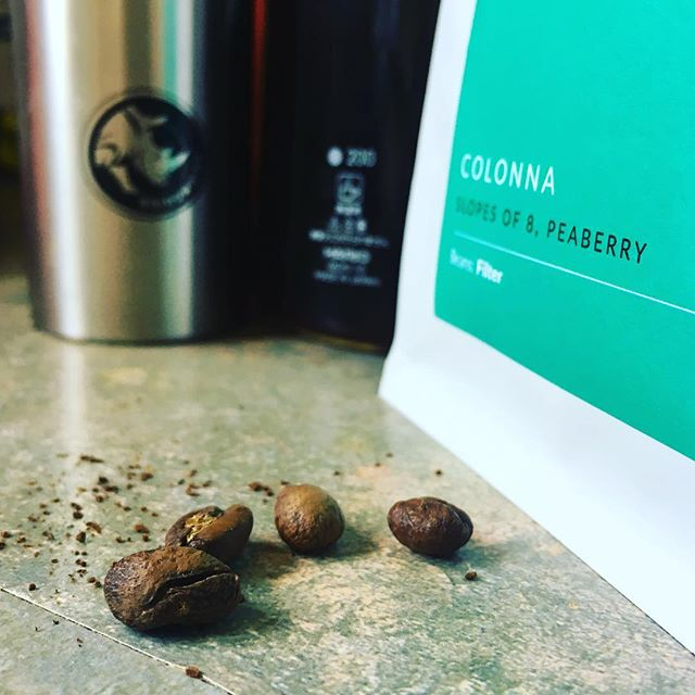 #CHinkedChef  Im in coffee heaven with a wonderful blackcurrant fragrance . Slopes of 8 Kenyan roasted by @colonnacoffee