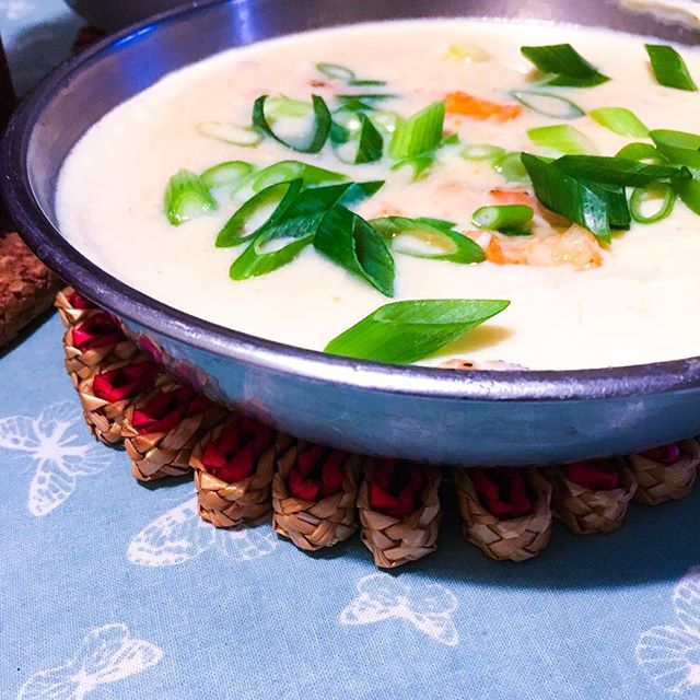 #CHinkedChef - Seafood and steamed egg-whites : a low-cholesterol alternative to a Chinese classic.