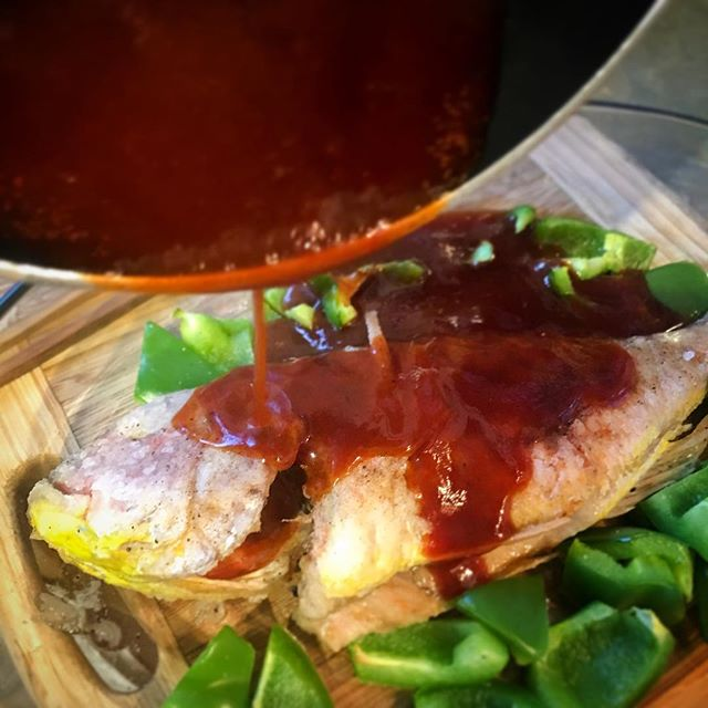 #CHinkedChef Sweet and sour red snapper (that's #fish you dumb dumb) - #QuickDinDins #chineseFood