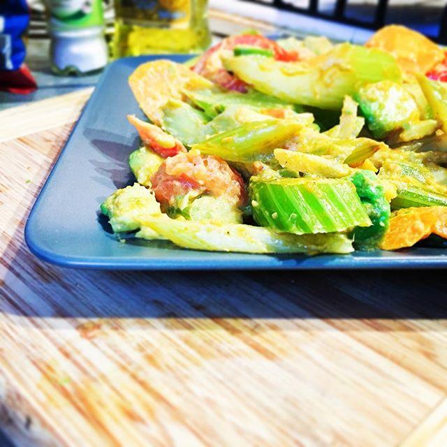 #CHinkedChef Avocado curry veg - Thai inspired dish that's surprisingly healthy. #avocado #avocuddle