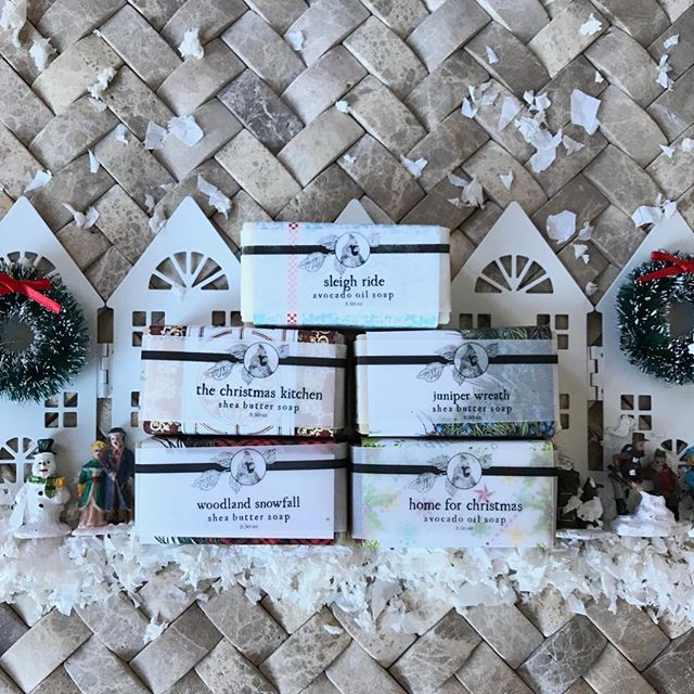 🎄Our beloved Christmas soaps are ready to ship!  If you enjoy handmade soap, you don't want to miss this. 🧼 This weekend all our soaps are Buy Four Get One Free! 🎄 We have five varieties to choose from, ranging from yummy cinnamon to woodsy evergreens. 🎄Merry Christmas!