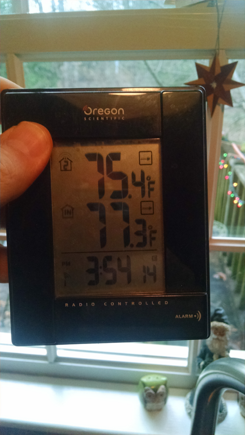 Ourdoor and indoor temp Dec 24 2015
