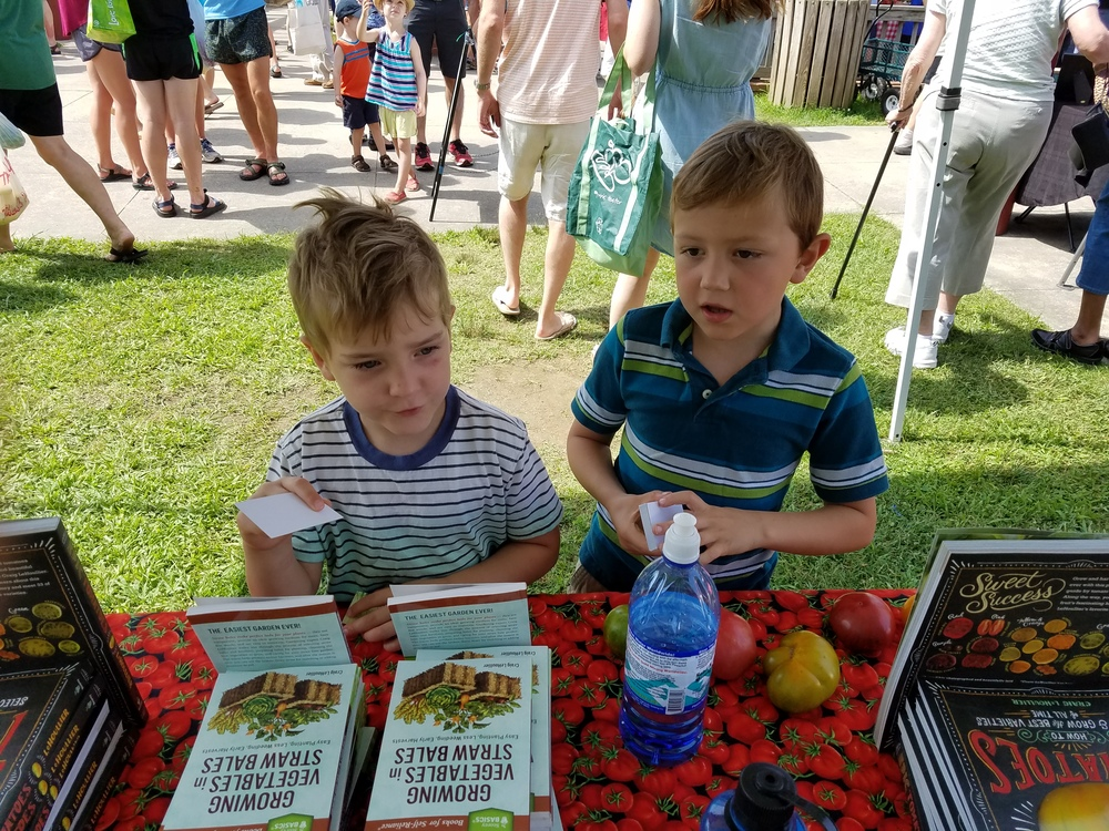 Aiden and Aaron - best book selling helpers ever!