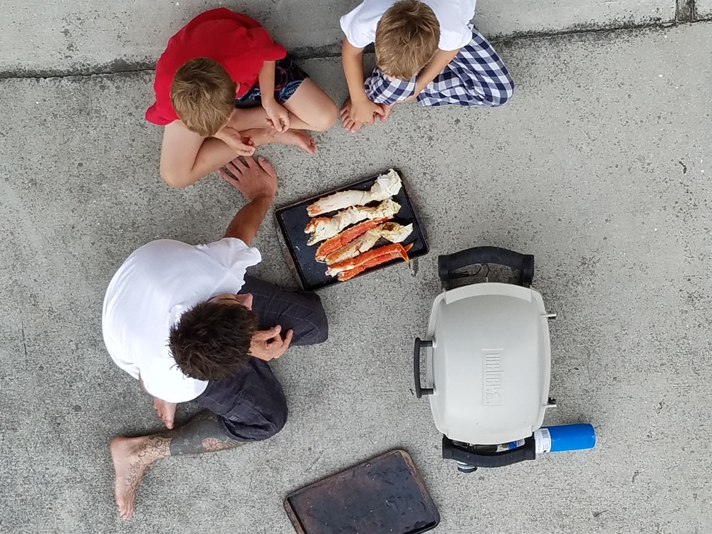 dad and sons king crab grilling July 2016.jpg