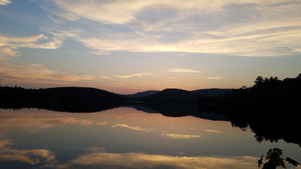 Reflections Sunset Lake June 12.jpg