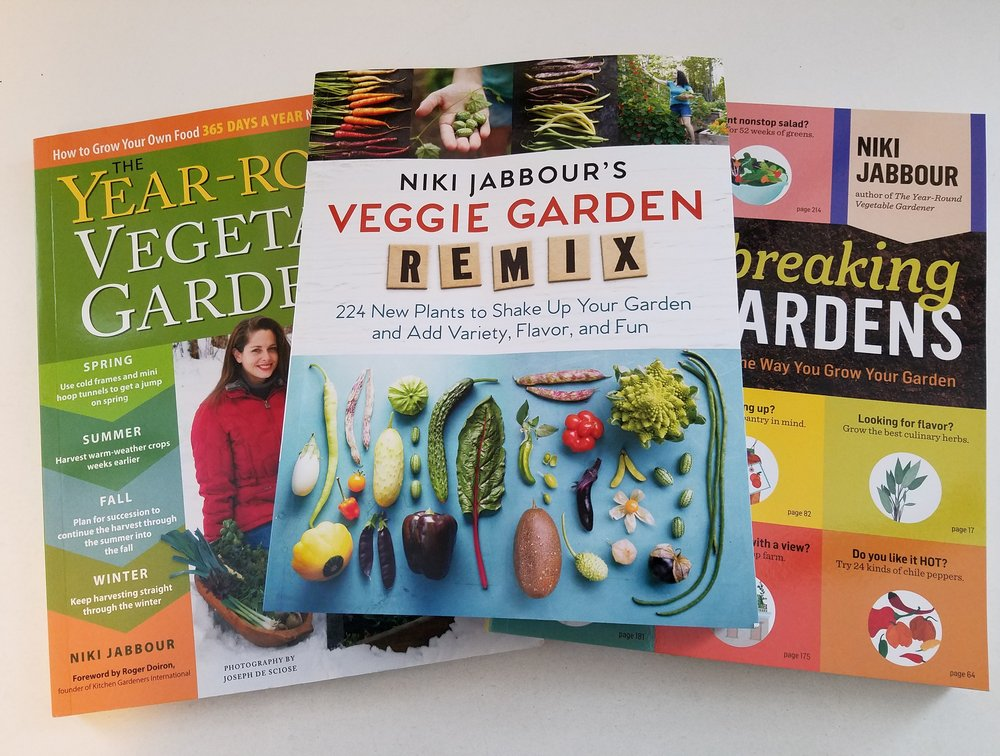 Great gardening books by Niki Jabbour - Veggie Garden Remix is just out!