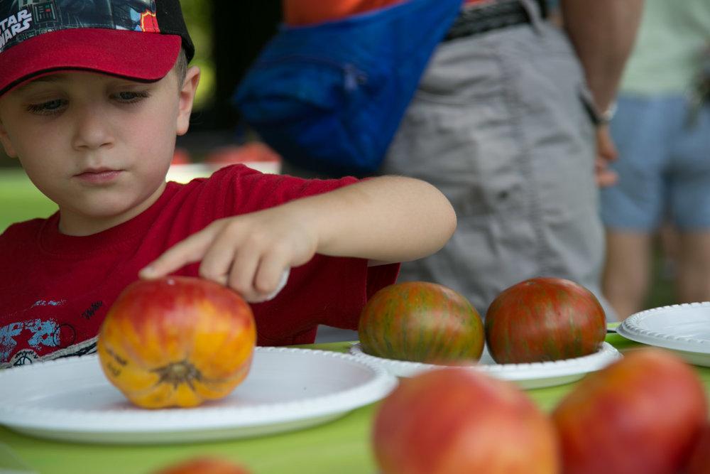 The joy of a tomato - taken at Tomatopalooza by Stephen Garrett