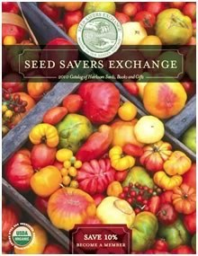 Cover of a Seed Savers Exchange catalog showing tomatoes
