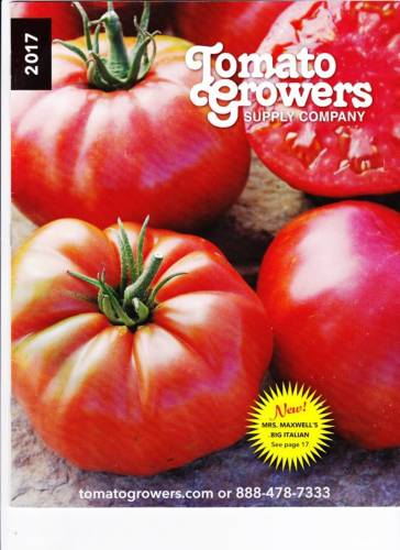 Cover of a Tomato Growers Supply catalog
