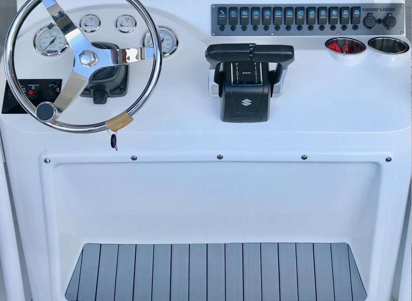Interior LED Lighting Package - When the sun goes down, the cockpit comes to life. The optional lighting package is as beautiful as it is functional. A blue glow covers every inch of the cockpit for safety as well as aesthetics.