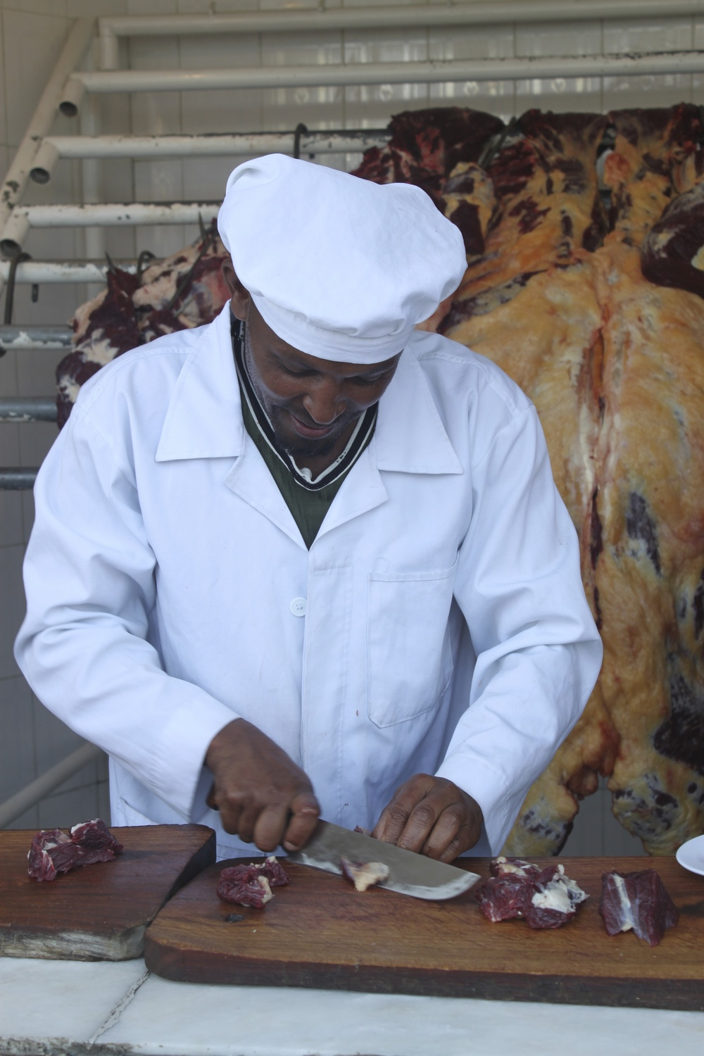 The butcher at Kidaane Mihiret