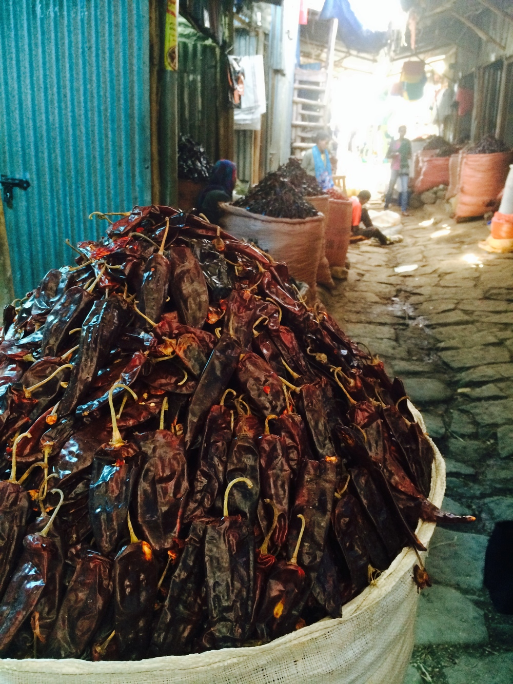 Berbere Peppers in Shola Market