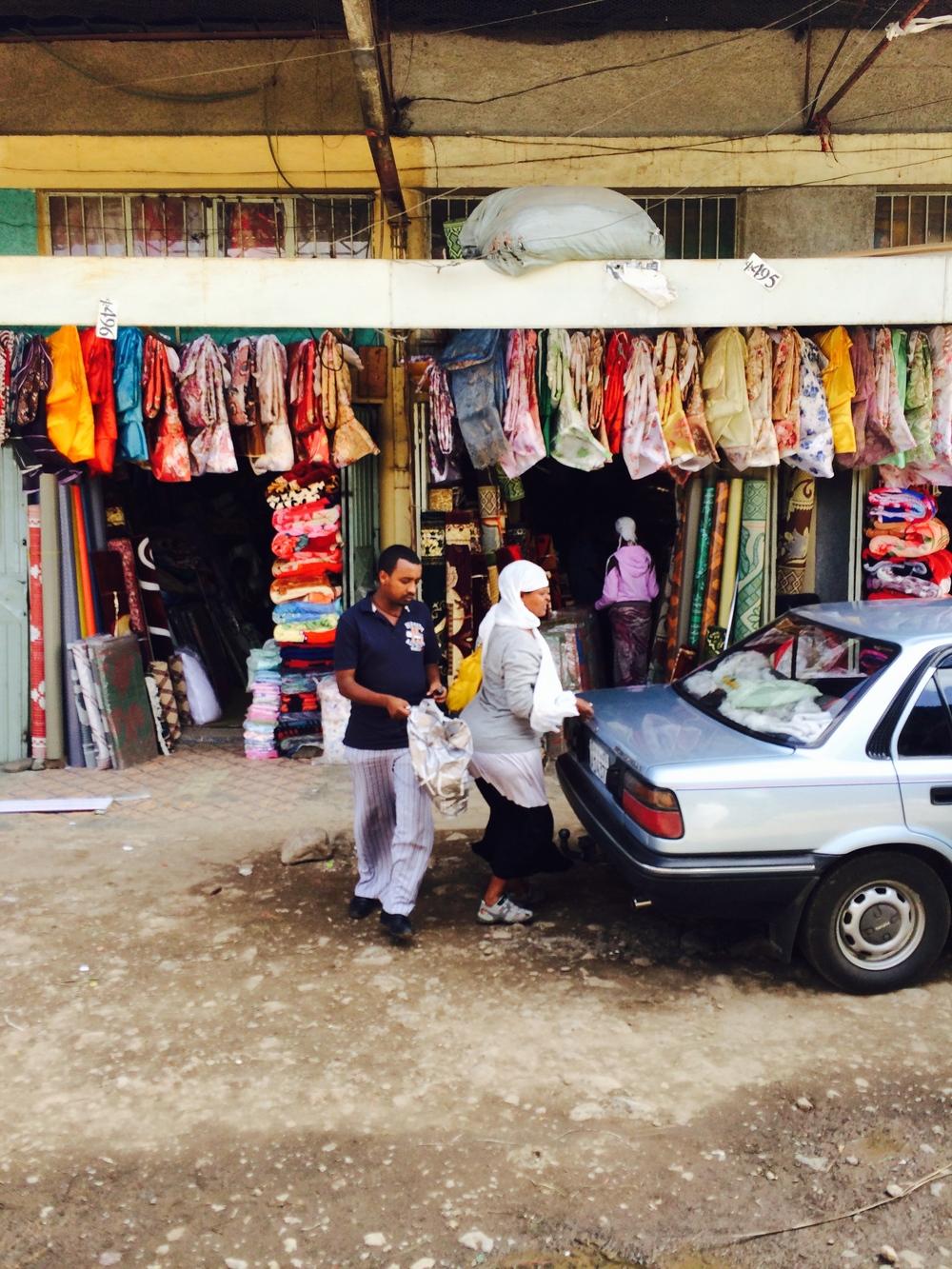 Shola Market Textile Shops