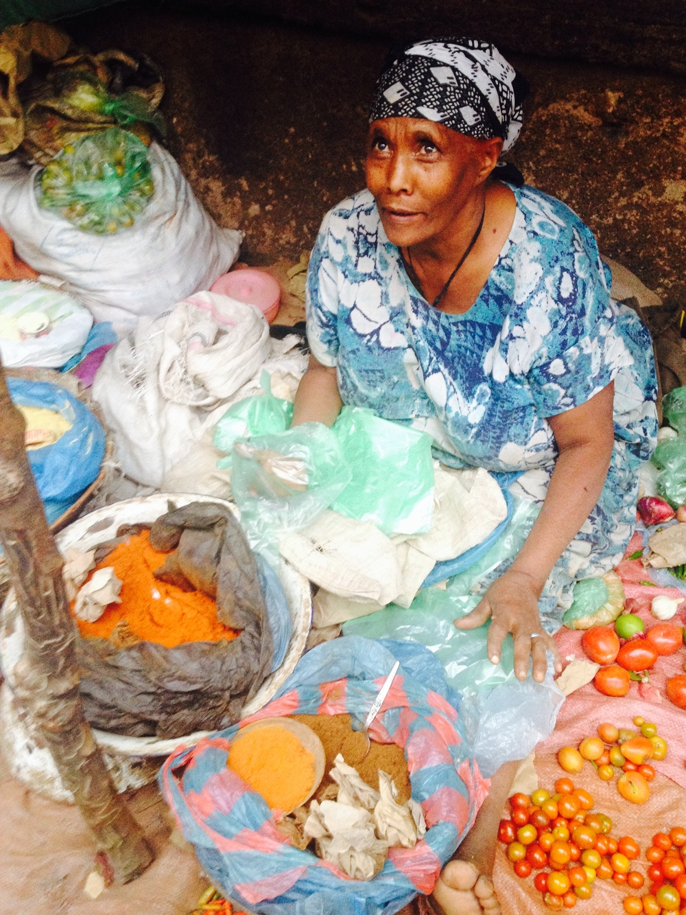 Sweet Spice Lady at the Harar Market