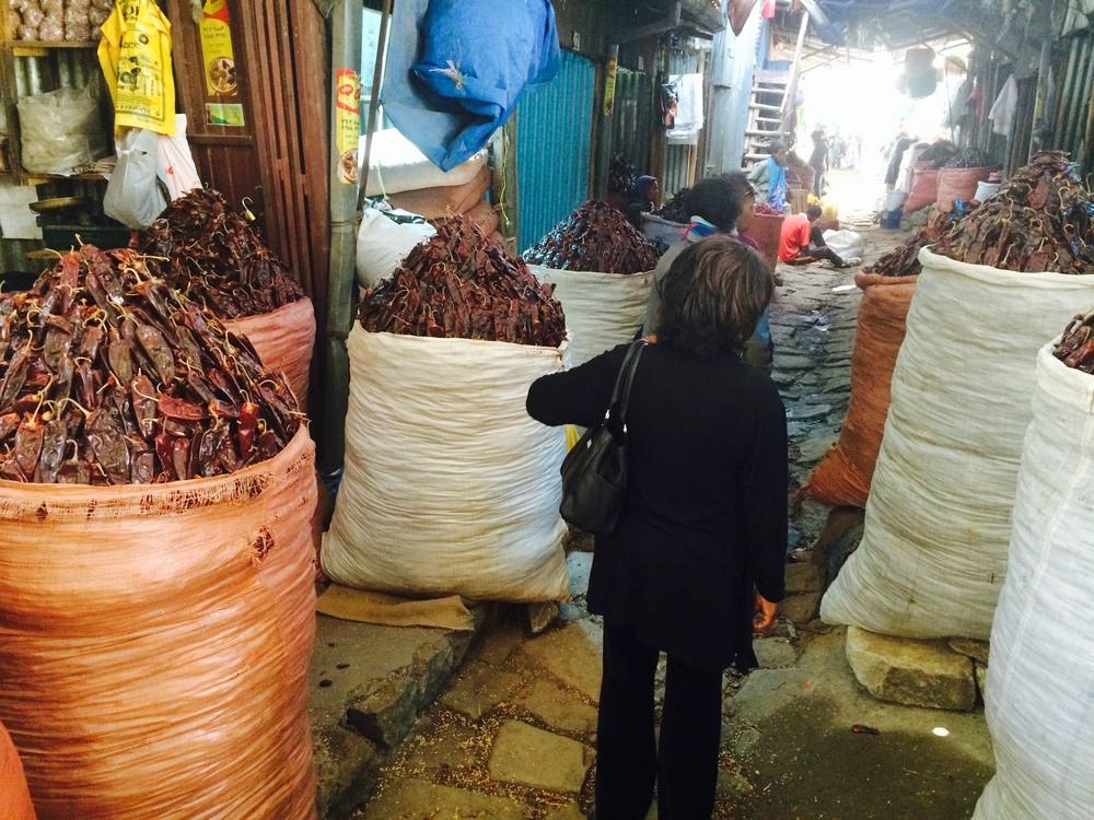Gigantic Sacks of Berbere Peppers