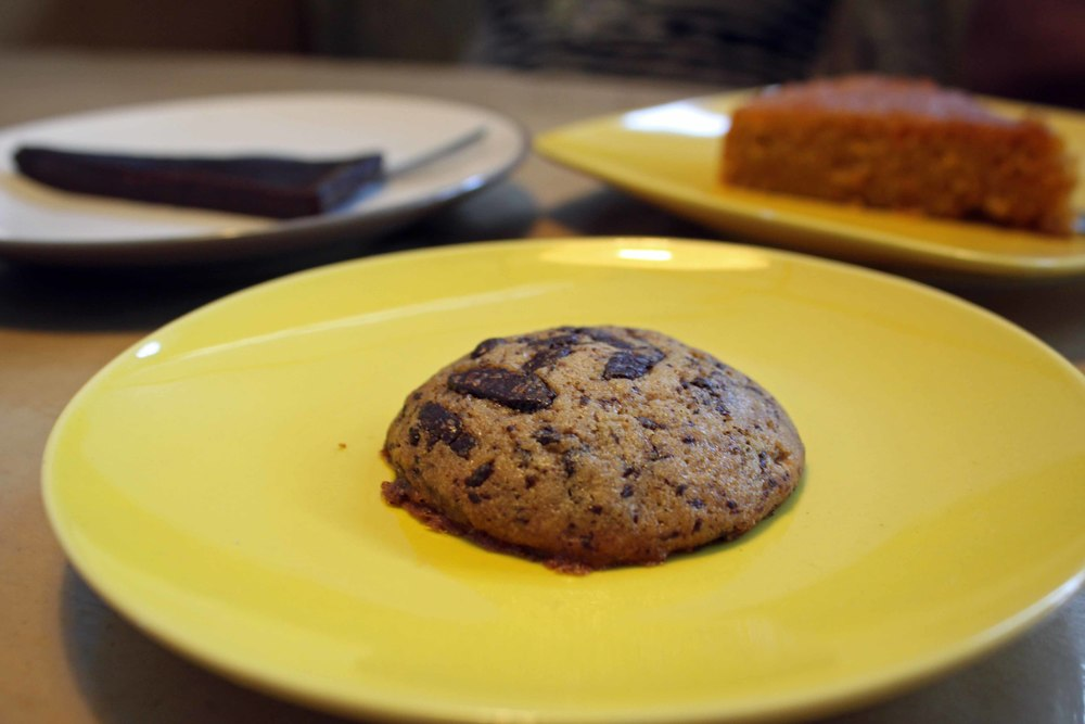 Sishu's Desserts: Chocolate Chip Cookie, Chocolate Cake & Raisin Carrot Cake