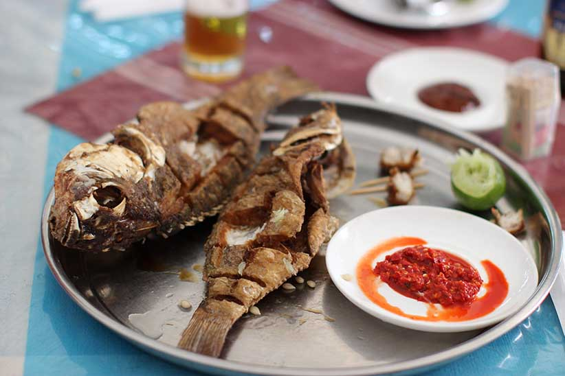 Fried Fish (Photo by food tour guest Munira Hashim)