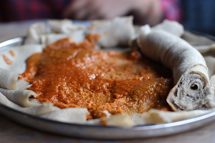 Injera and Shiro (Photo by Munira Hashim)
