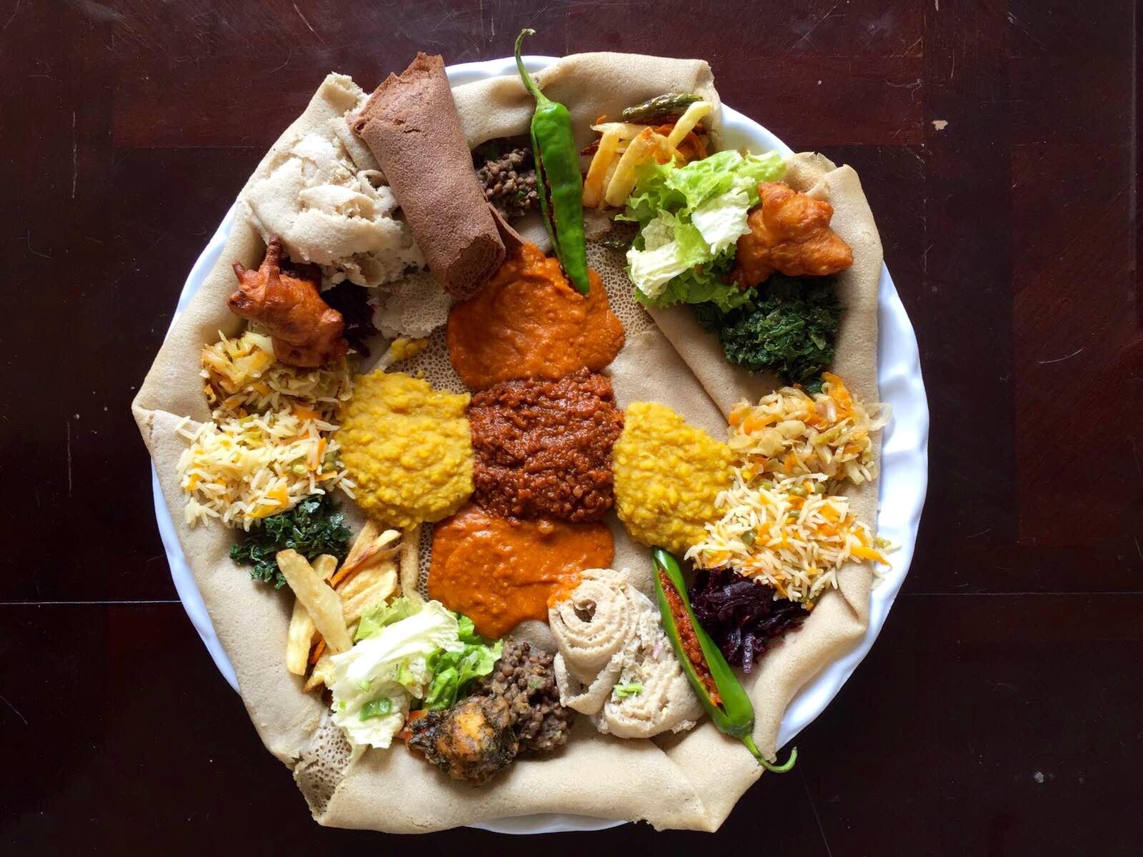 'Beyaynetu' - a vegan platter