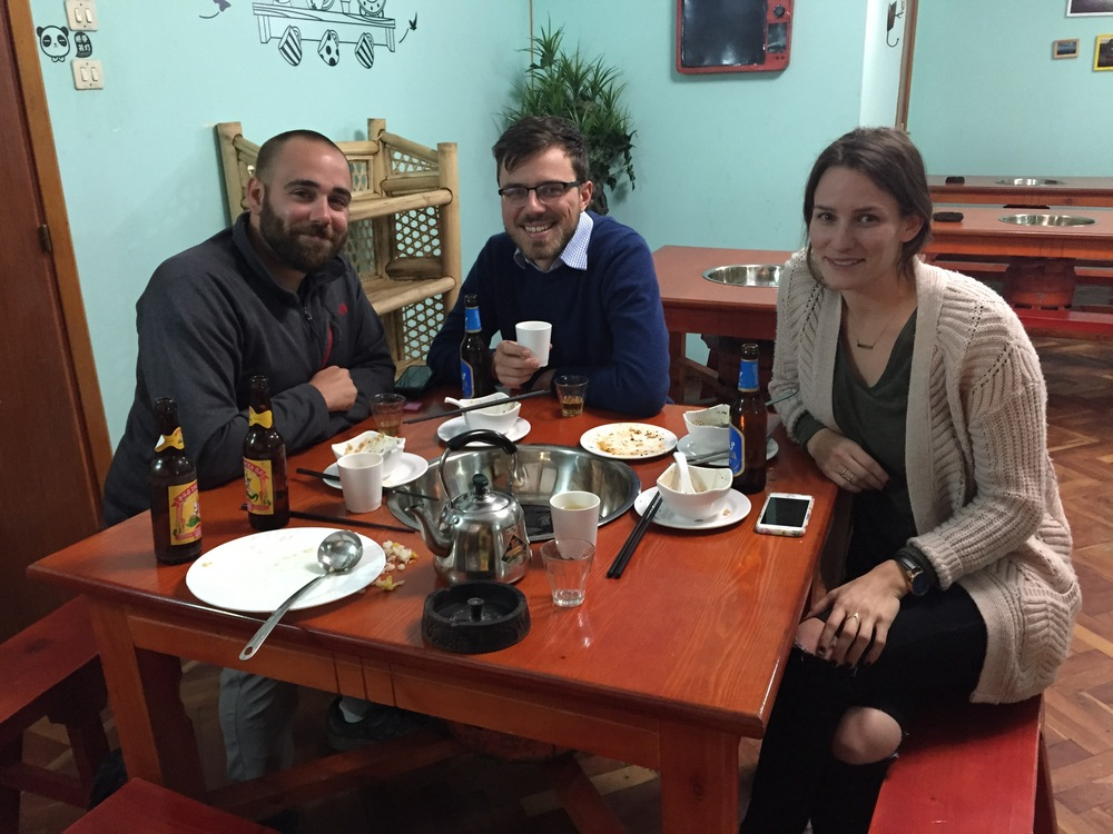 TripScout founder, Konrad Waliszewski with Addis Eats co-founders Xavier and Eliza