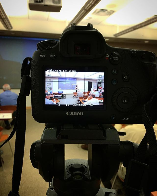 Filming at @hudsonalpha this morning for HOTCoffee. #hotcoffeehsv