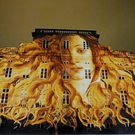 Venus by Botticelli, Festival of Lights, Lyon