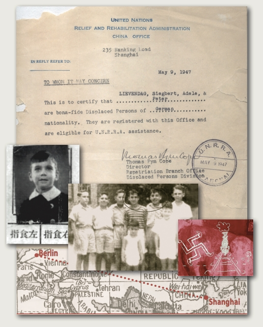 Pedro Lievendag's Displaced Person Letter, U.N.R.R.A, CHINA 1947 Holocaust Museum BS.AS