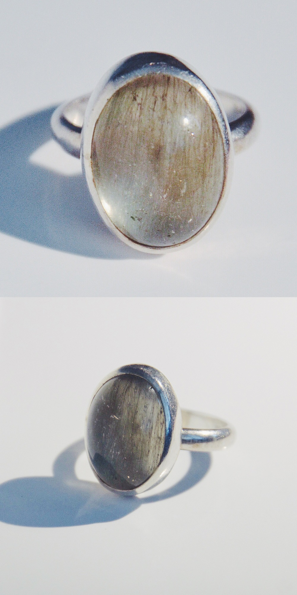 Early Morning 2013  Moon stone, sterling silver