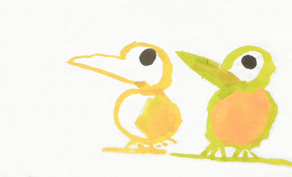 Birds on branch, 1999