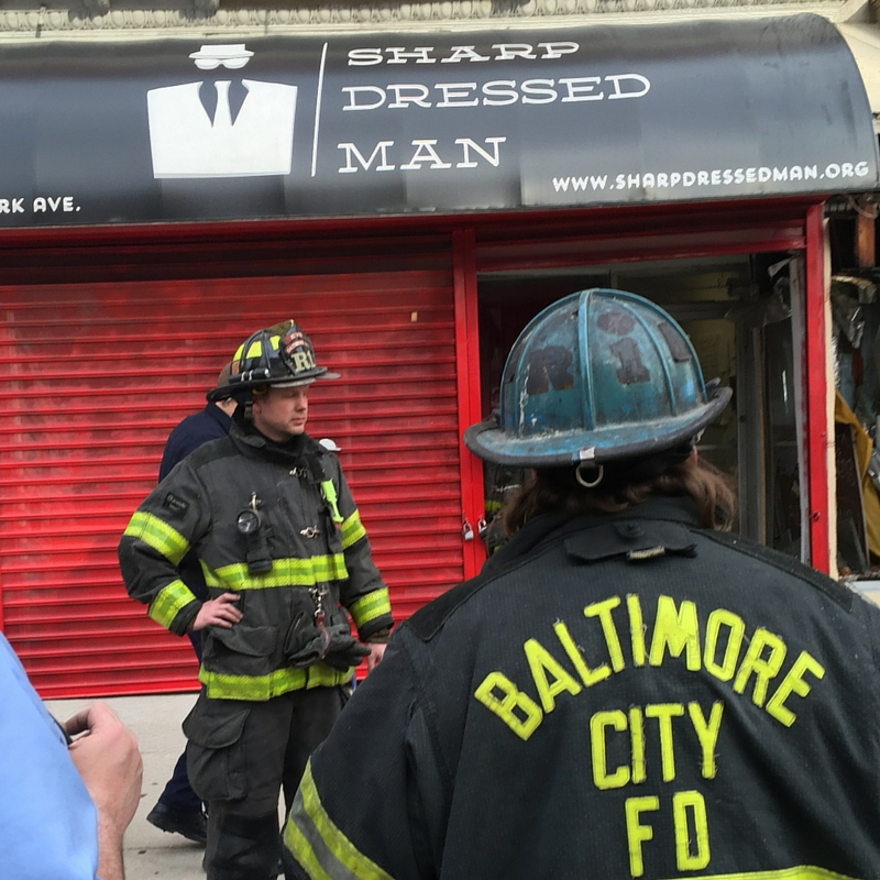 Baltimore City Firefighters saved Sharp Dressed Man today.