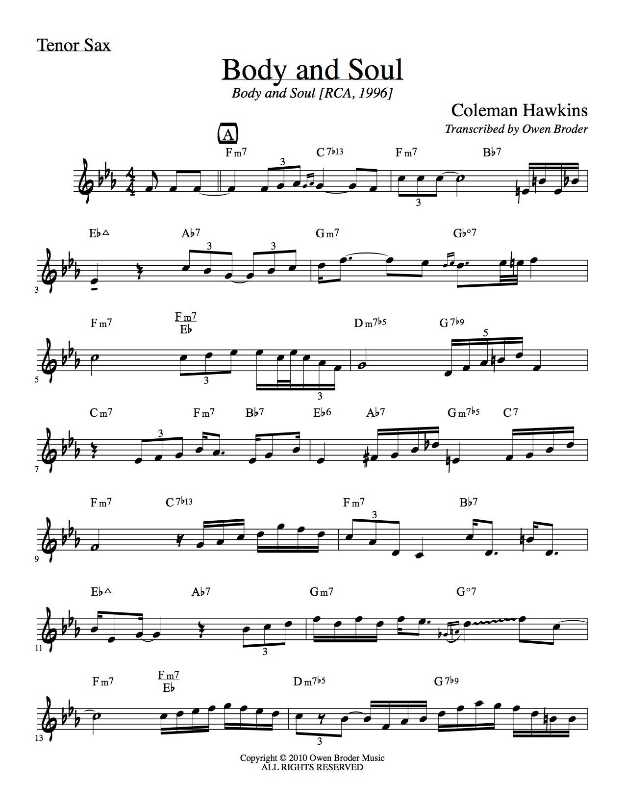 Tenor Sax Solo Sheet Music Free – Grcija