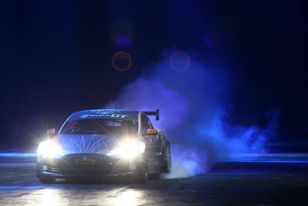 EGT'S TESLA MODEL S STARS IN AUTOSPORT SHOW'S LIVE ACTION ARENA The race-prepared Tesla Model S, which is set to contest the Electric GT Championship was demonstrated for the first time. Read More