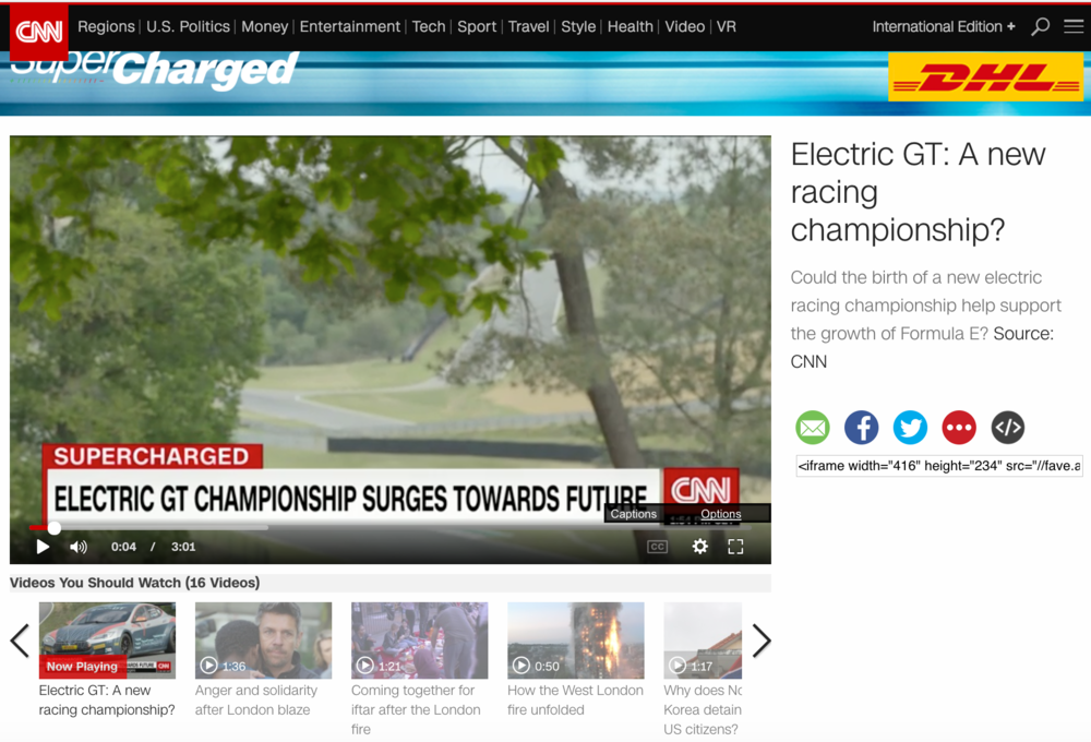 ELECTRIC GT STAR ON CCN WEBSITE The Electric GT Championship, the world's first 100% zero-emissions GT Championship, He has starred in the CNN news website. Read More