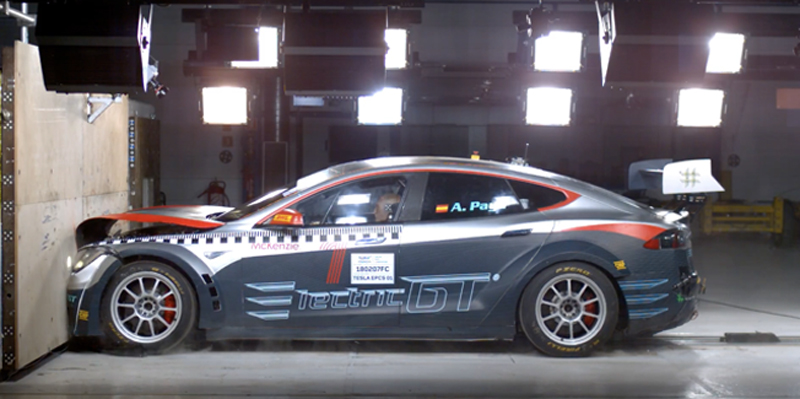 TESLA MODEL S P100D RACE CAR PASSES OFFICIAL FIA CRASH TEST   Electric GT Holdings Inc. has announced that its all-electric race car has passed its official crash test ahead of the inaugural season of the Electric Production Car Series.   Read More