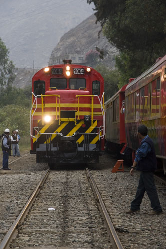 Lima - Huancayo Train - Approaching