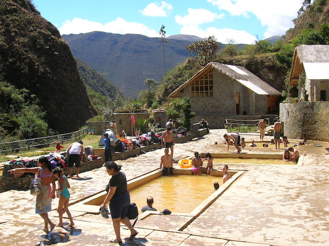 Hot springs at Lares.