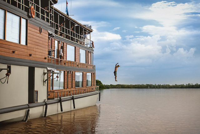 Swimming Pools in Iquitos - Delfin II - Amazon River Jump