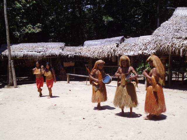 The Yagua experience includes music & dance.