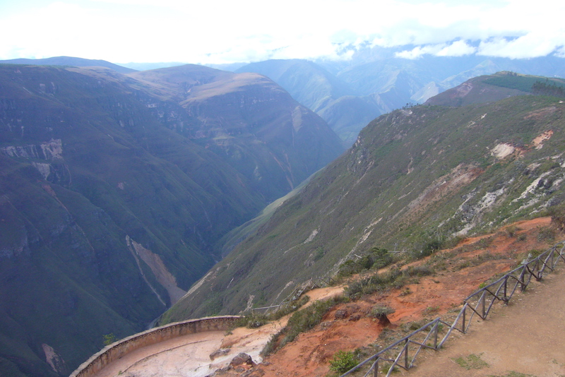 View upstream of Sonche River from lookout tower.