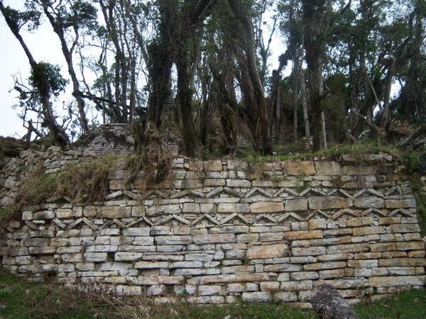 Cataneo ruins, showing classic Chachapoya friezes.