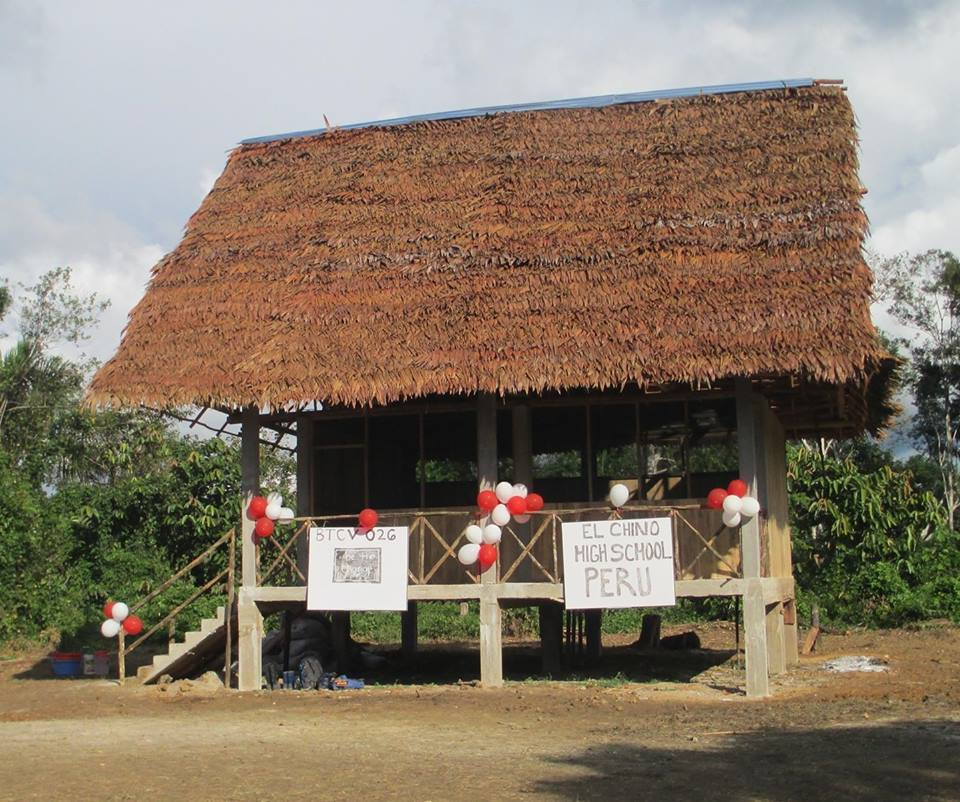 The school building in Chino, funded by Tahuayo Lodge.